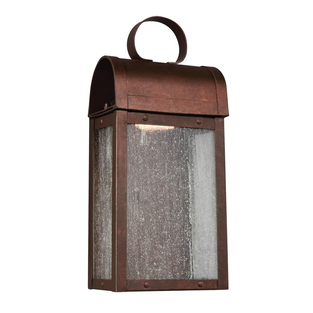 Sea Gull Conroe Weathered Copper LED Outdoor Wall Light 8514891S 44 Desti