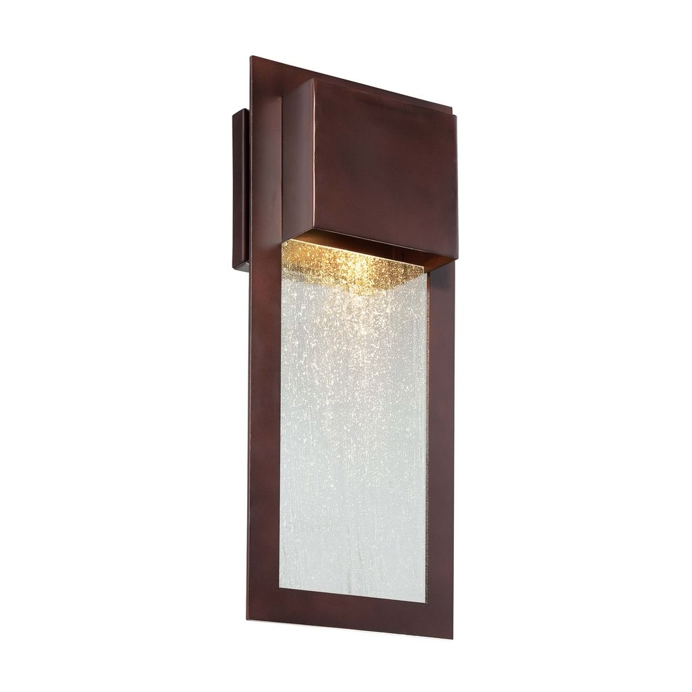 Bronze Finish Wall Lights : Outdoor Wall Light with Clear Glass in Alder Bronze Finish 72382-246 Destination Lighting