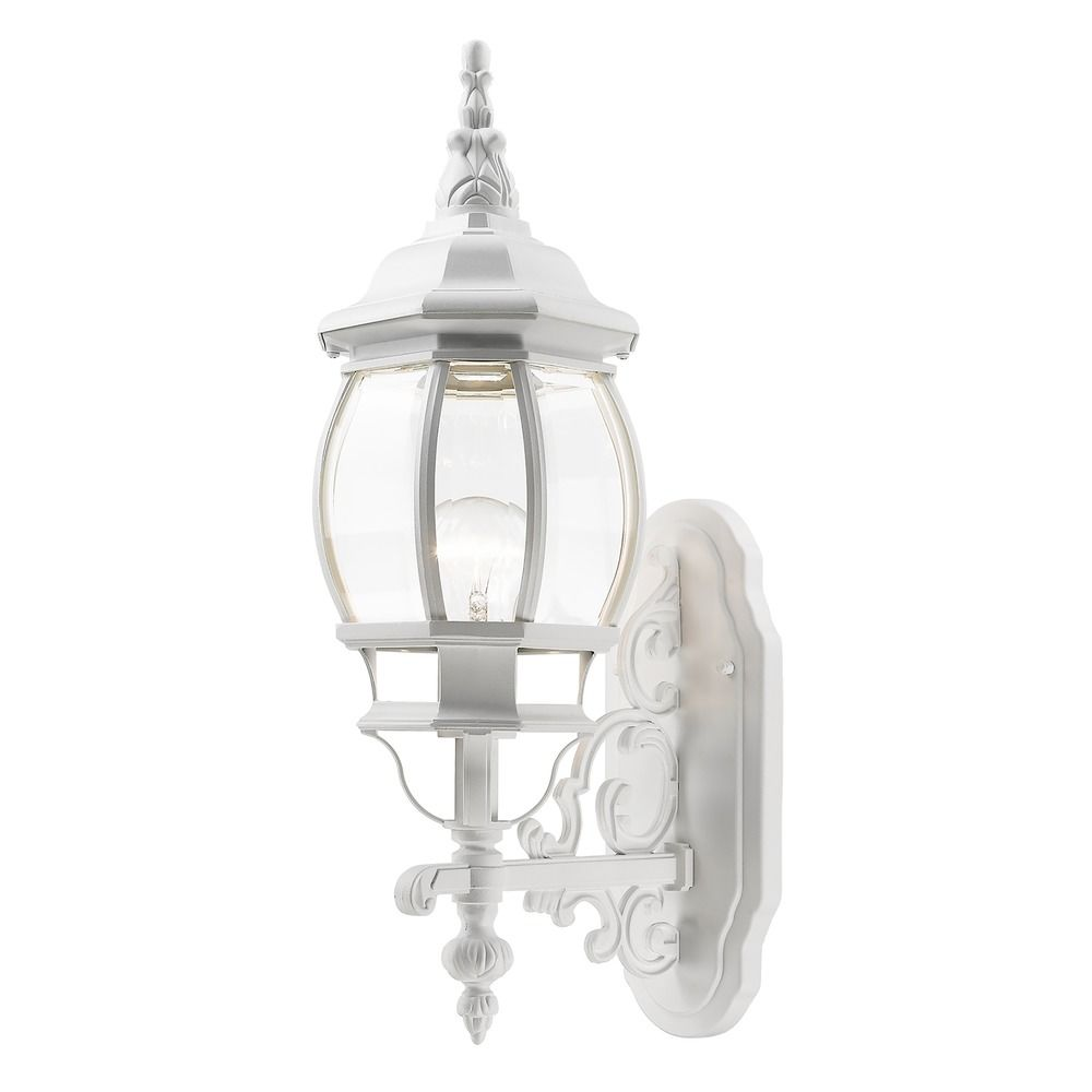 Livex Lighting Frontenac White Outdoor Wall Light 7520-03 Destination Lighting