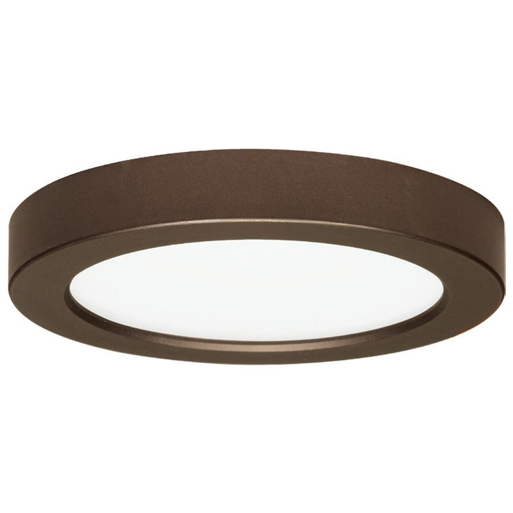 Led flush mount ceiling light round bronze 7 inch 2700k 120v at destination lighting
