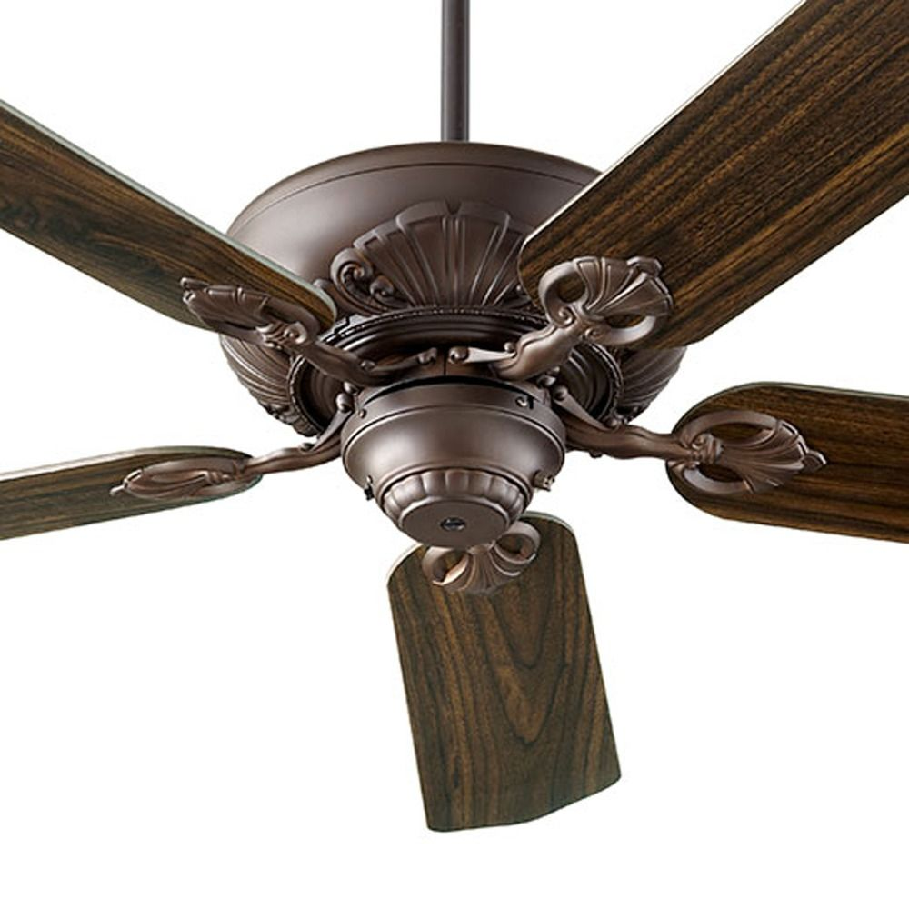 Oiled Bronze Ceiling Lights : Quorum lighting chateaux oiled bronze ceiling fan without