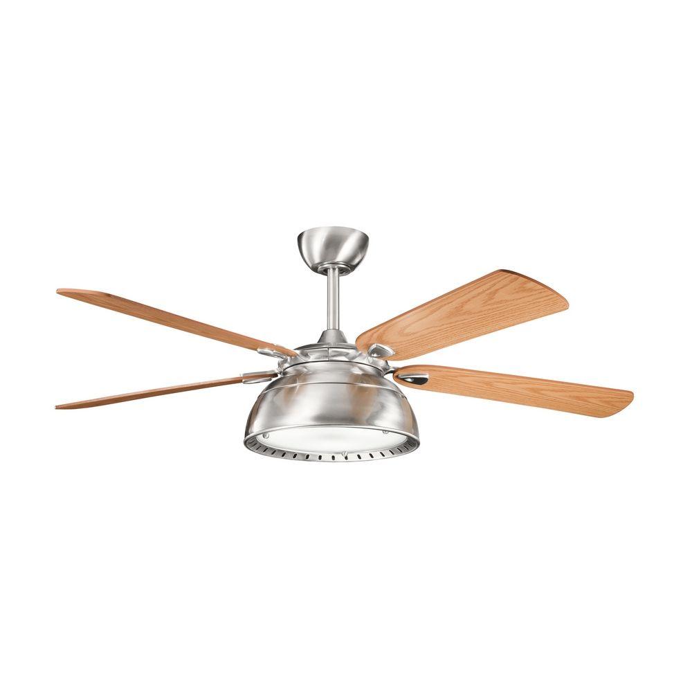 kichler lighting kichler ceiling fan with light kit in steel finish. Black Bedroom Furniture Sets. Home Design Ideas