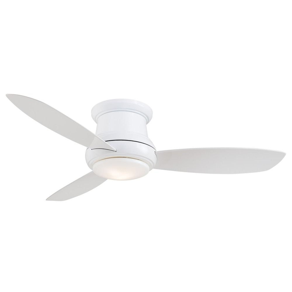52-Inch Minka Lavery White LED Ceiling Fan With Light