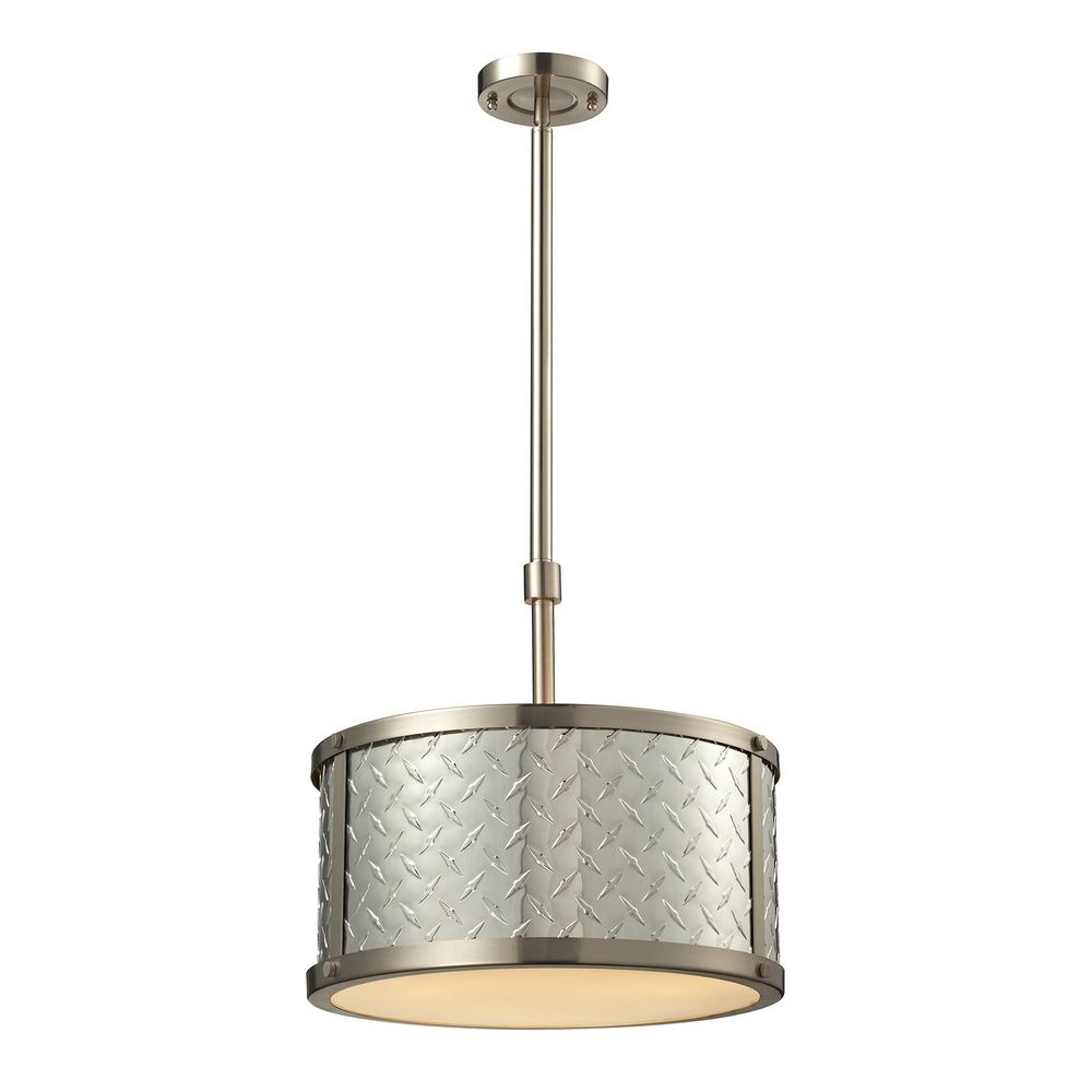drum pendant light in brushed nickel finish 31424 3. Black Bedroom Furniture Sets. Home Design Ideas