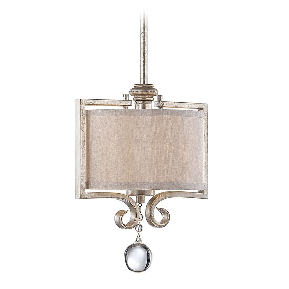 Savoy house lighting silver sparkle mini pendant light with drum product image aloadofball Gallery