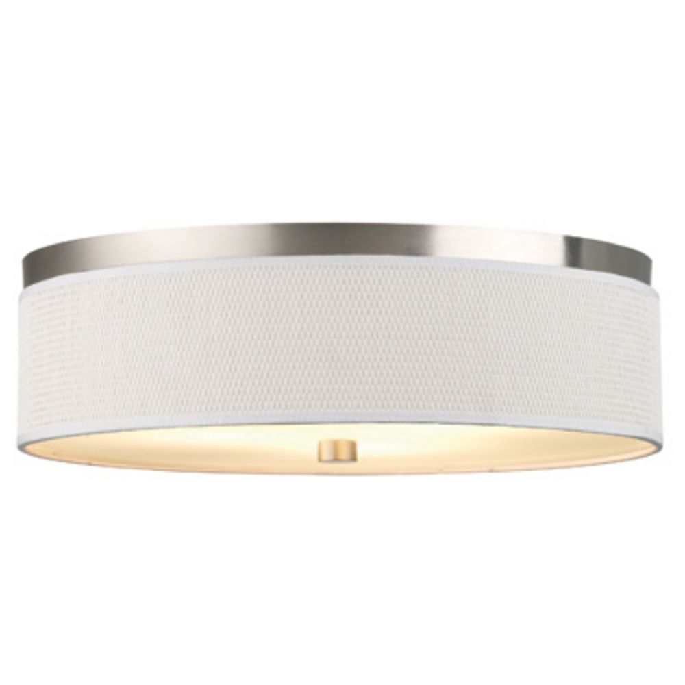 Flush Mount Kitchen Ceiling Light Fixtures 20 1 2 Inch Flushmount Drum Shade Ceiling Light F615536nv