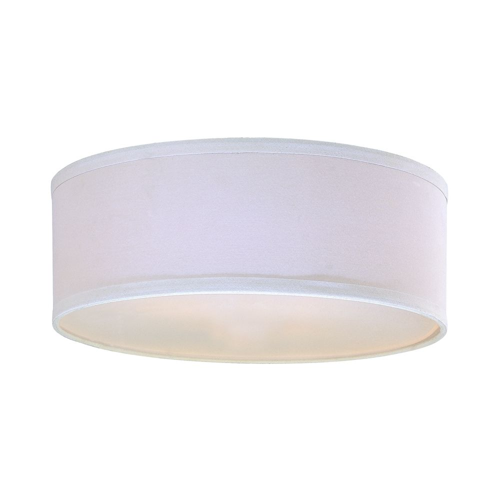 White Linen Drum Lamp Shade With Spider, Lamp Shade White Linen Drum