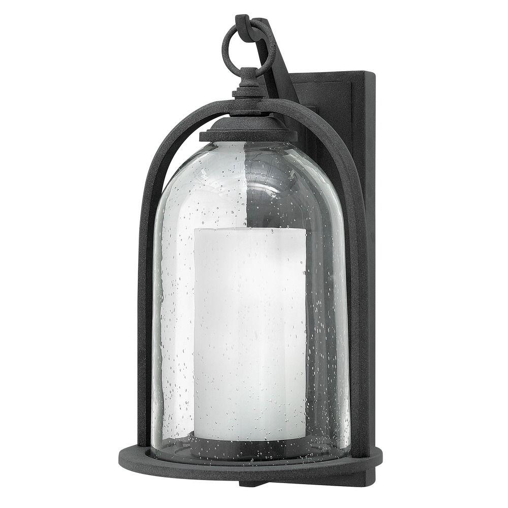Hinkley Lighting Quincy Aged Zinc Outdoor Wall Light 2615DZ Destination Lighting