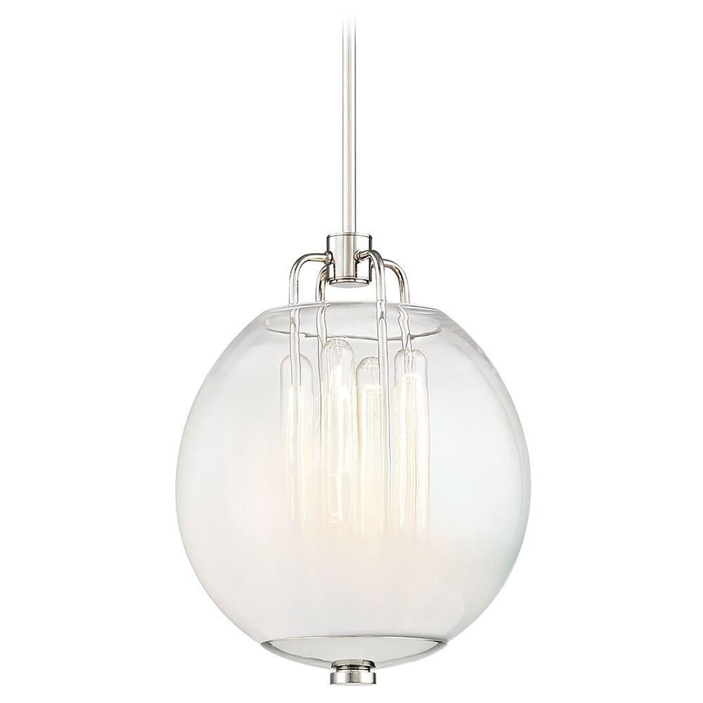 Hudson Valley Lighting Bulbs: Edison Bulb Pendant Light Polished Nickel 12.25-Inch By