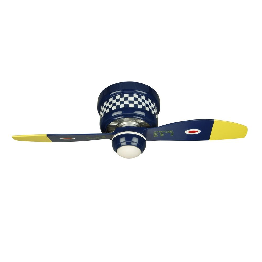 42 Inch Hugger Warplane Ceiling Fan With Light Kit