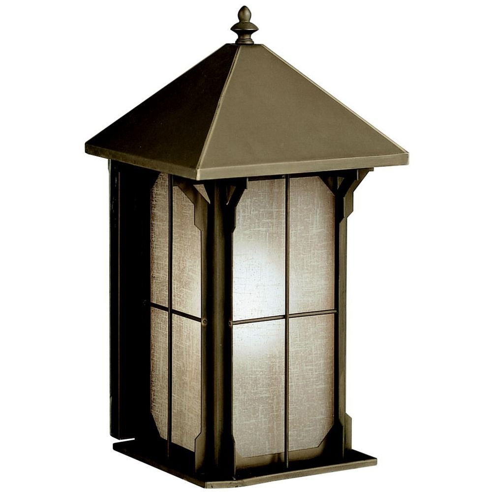 Kichler Outdoor Wall Light with Brown Glass in Olde Bronze Finish 9470OZ Destination Lighting