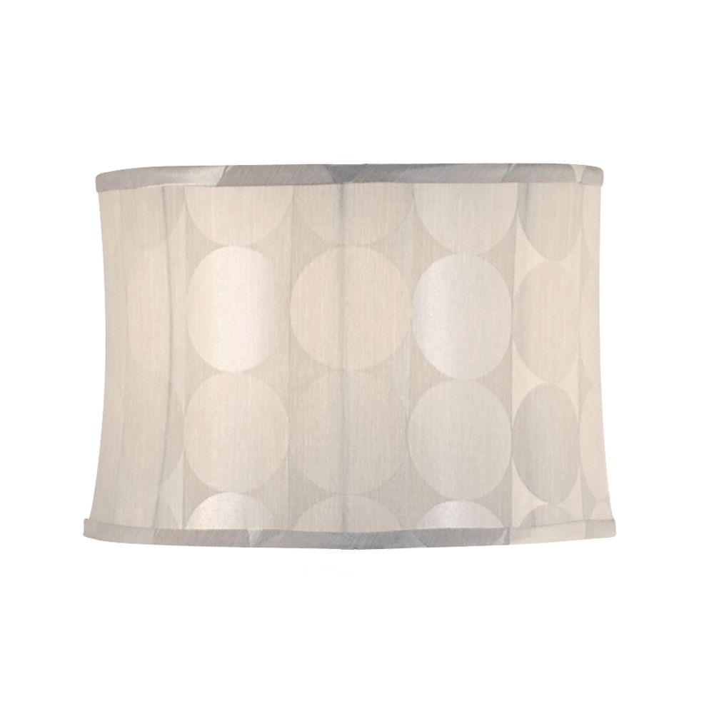 Silver deco drum lamp shade with spider assembly at destination lighting design classics lighting silver deco drum lamp shade with spider assembly dcl sh7217 aloadofball Gallery