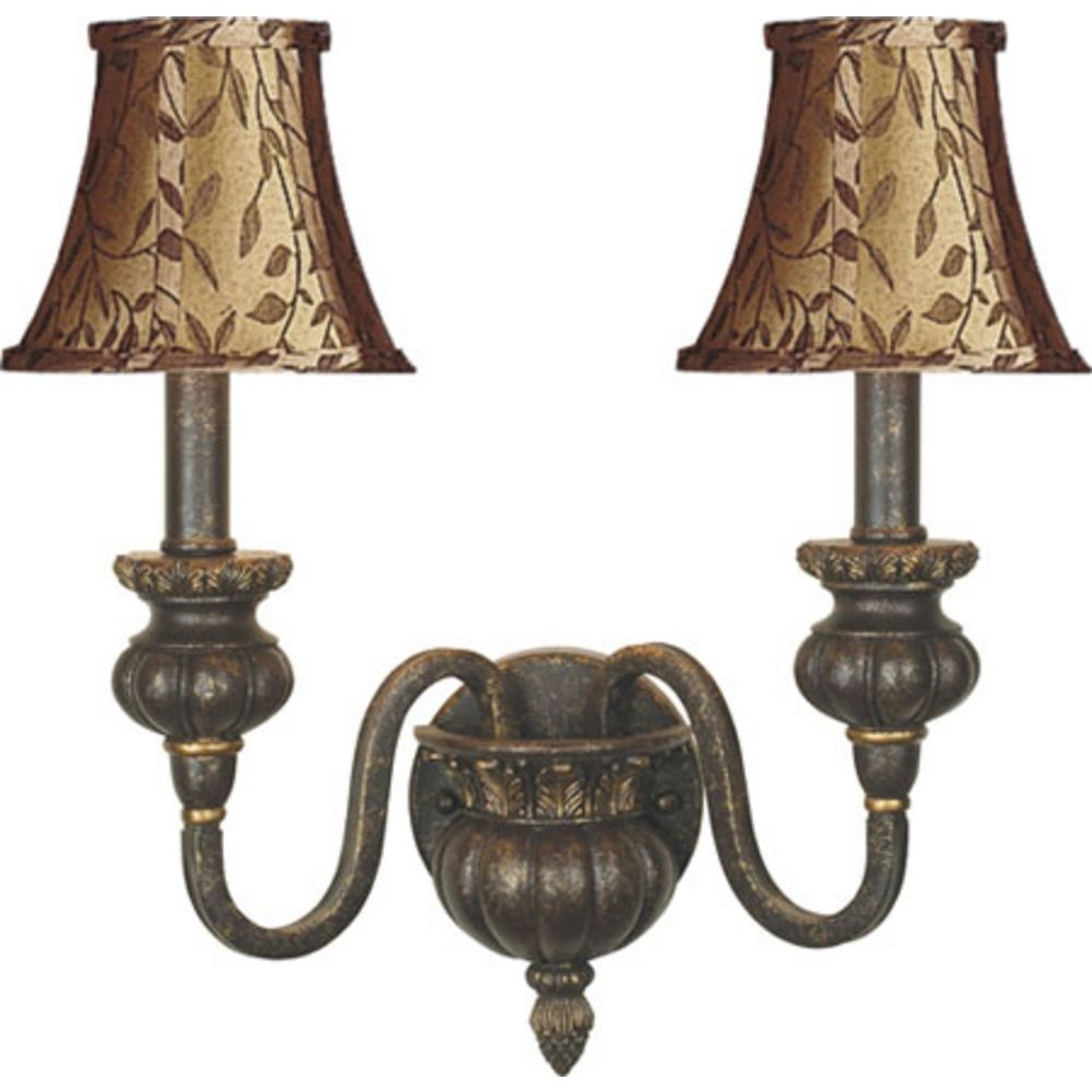 Sconce Wall Light with Gold Shades in Golden Coffee Finish 322-GC-SH13 Destination Lighting