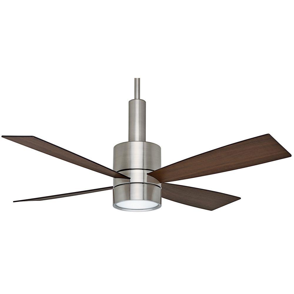 fan co casablanca fan bullet brushed nickel ceiling fan with light. Black Bedroom Furniture Sets. Home Design Ideas