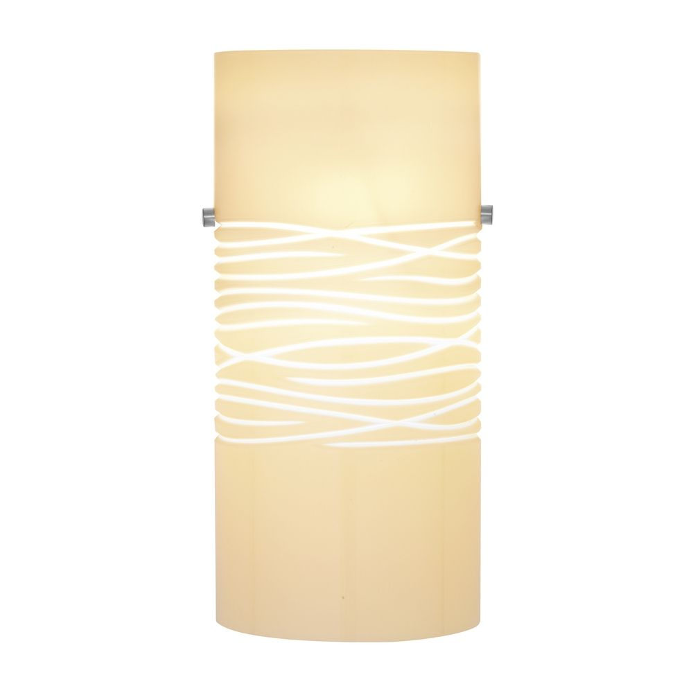 Oggetti Lighting 82-3015 Modern Art Glass Wall Sconce with Cream ...