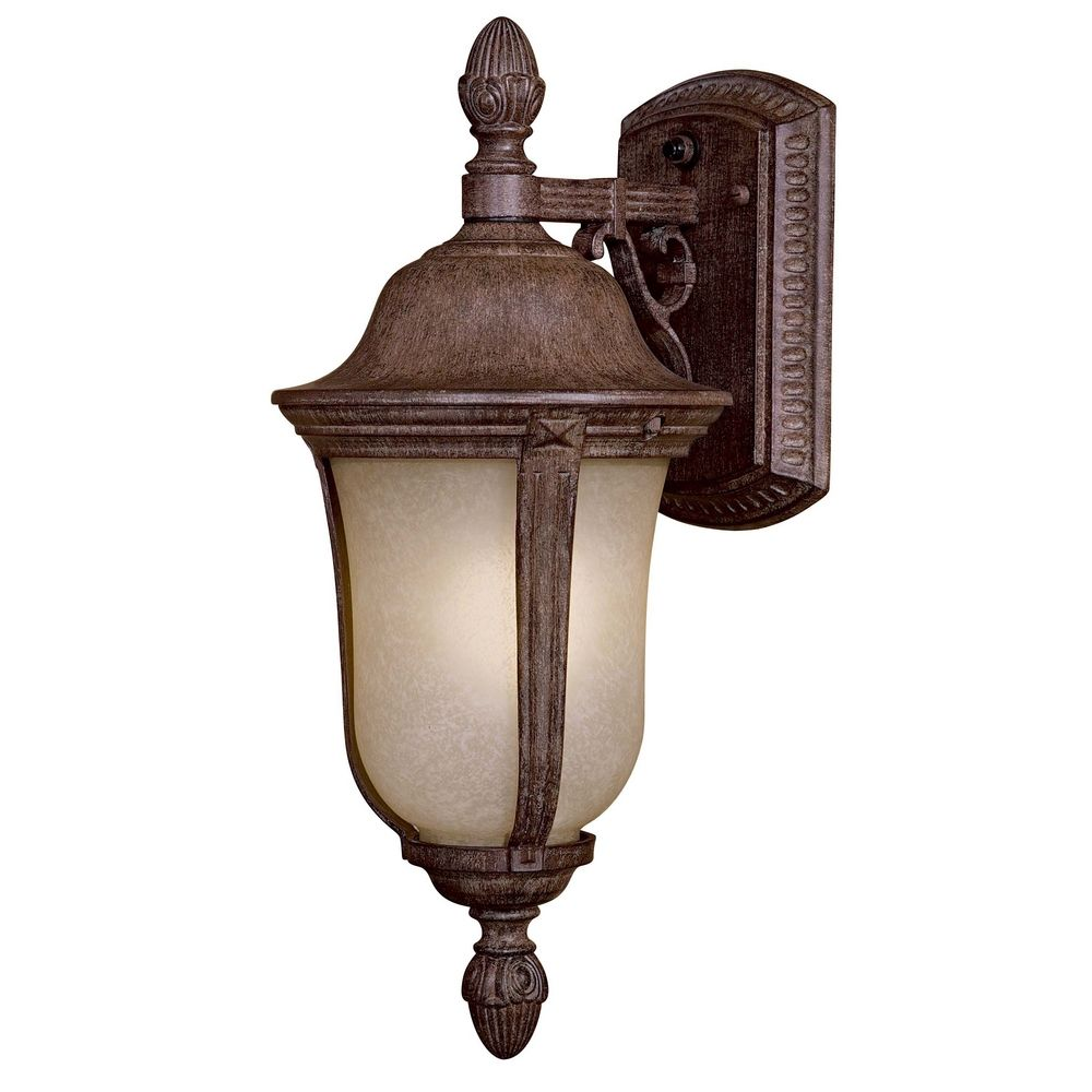 Outdoor Wall Light with Beige Cream Glass in Vintage