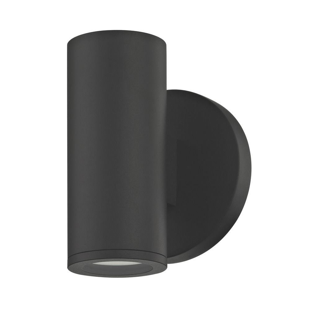 Black Outdoor Wall Light Cylinder Down Off