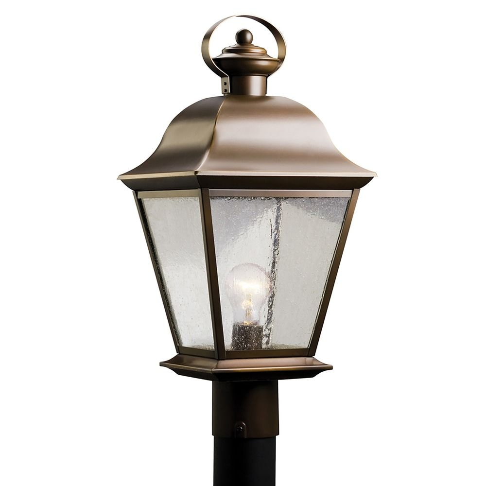 Kichler outdoor post light with clear seeded glass 9909oz kichler outdoor post light with clear seeded glass aloadofball Gallery