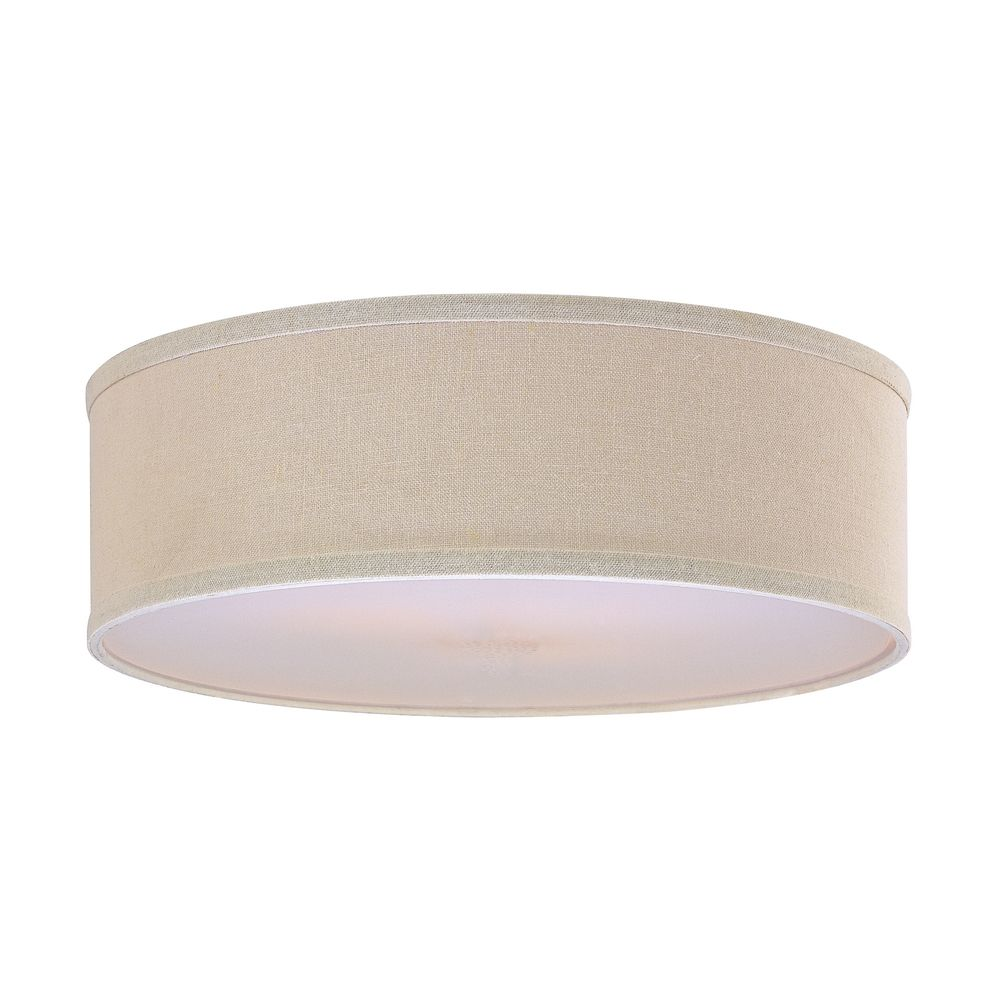 Cream Linen Drum Lamp Shade SH7493DIF Destination Lighting