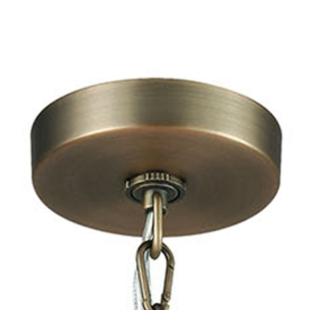 Elk Lighting Pembroke Brushed Antique Brass Pendant Light with Drum Shade alt2.  sc 1 st  Destination Lighting & Elk Lighting Pembroke Brushed Antique Brass Pendant Light with Drum ...