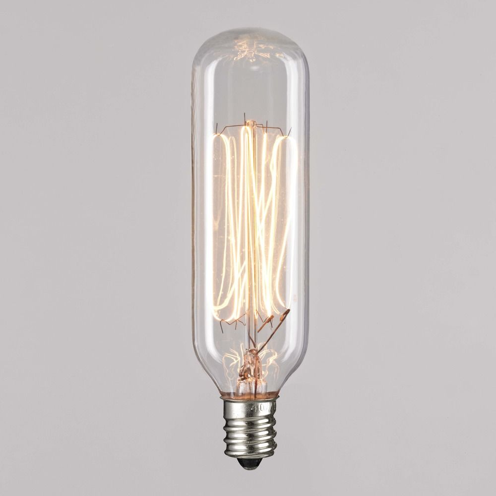Design Clics Lighting T25 40 Watt Incandescent Filament Light Bulb 40t25cl E12