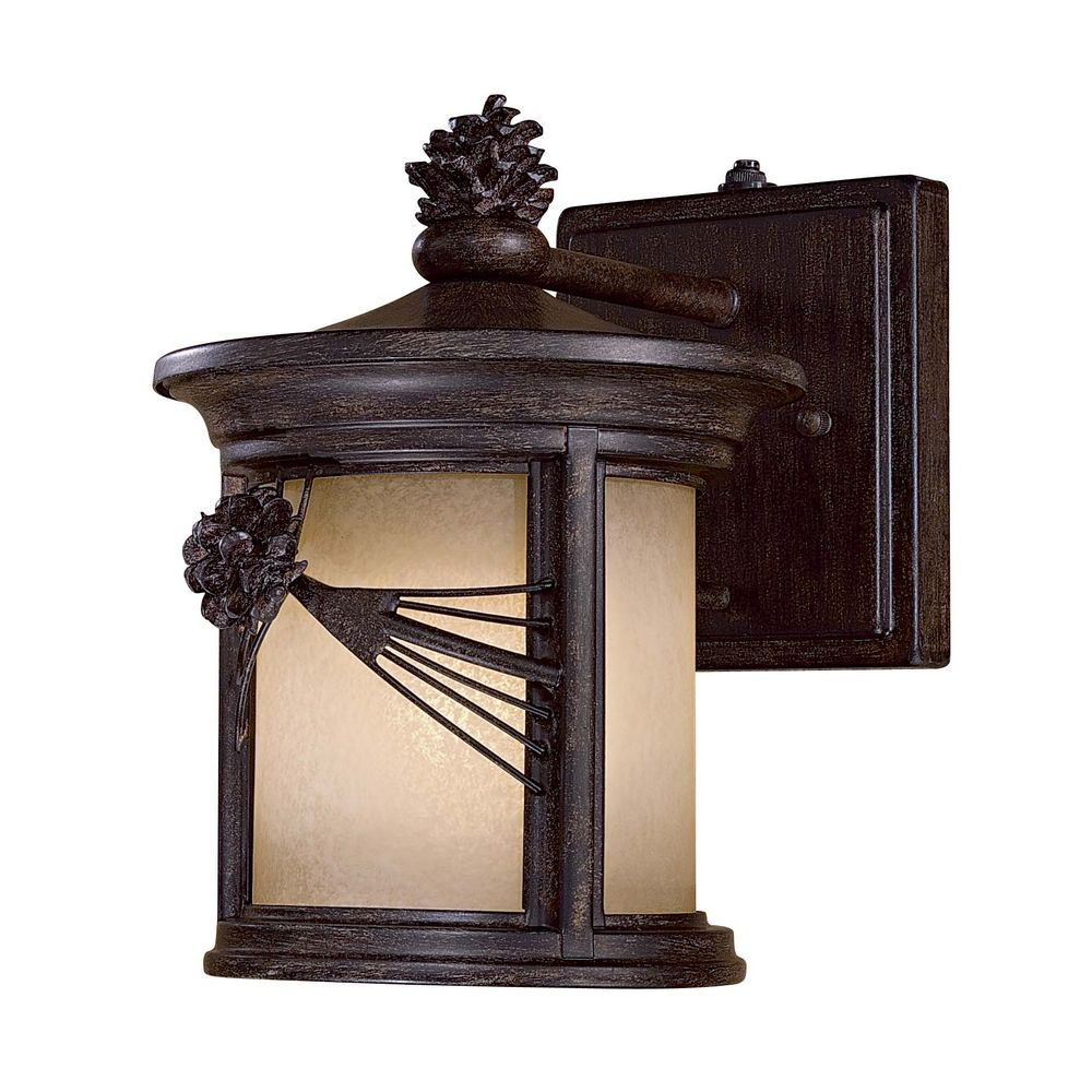 Outdoor Wall Light with Beige / Cream Glass in Other Finish 9151-A357-PL Destination Lighting