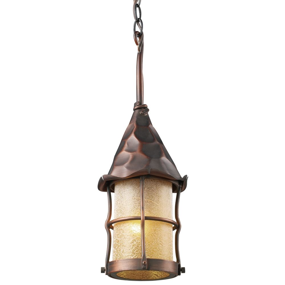 Outdoor hanging light in antique copper finish 388 ac for Outdoor hanging porch lights