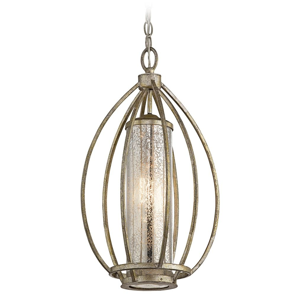 Mercury Glass Pendant Light Gold Kichler Lighting
