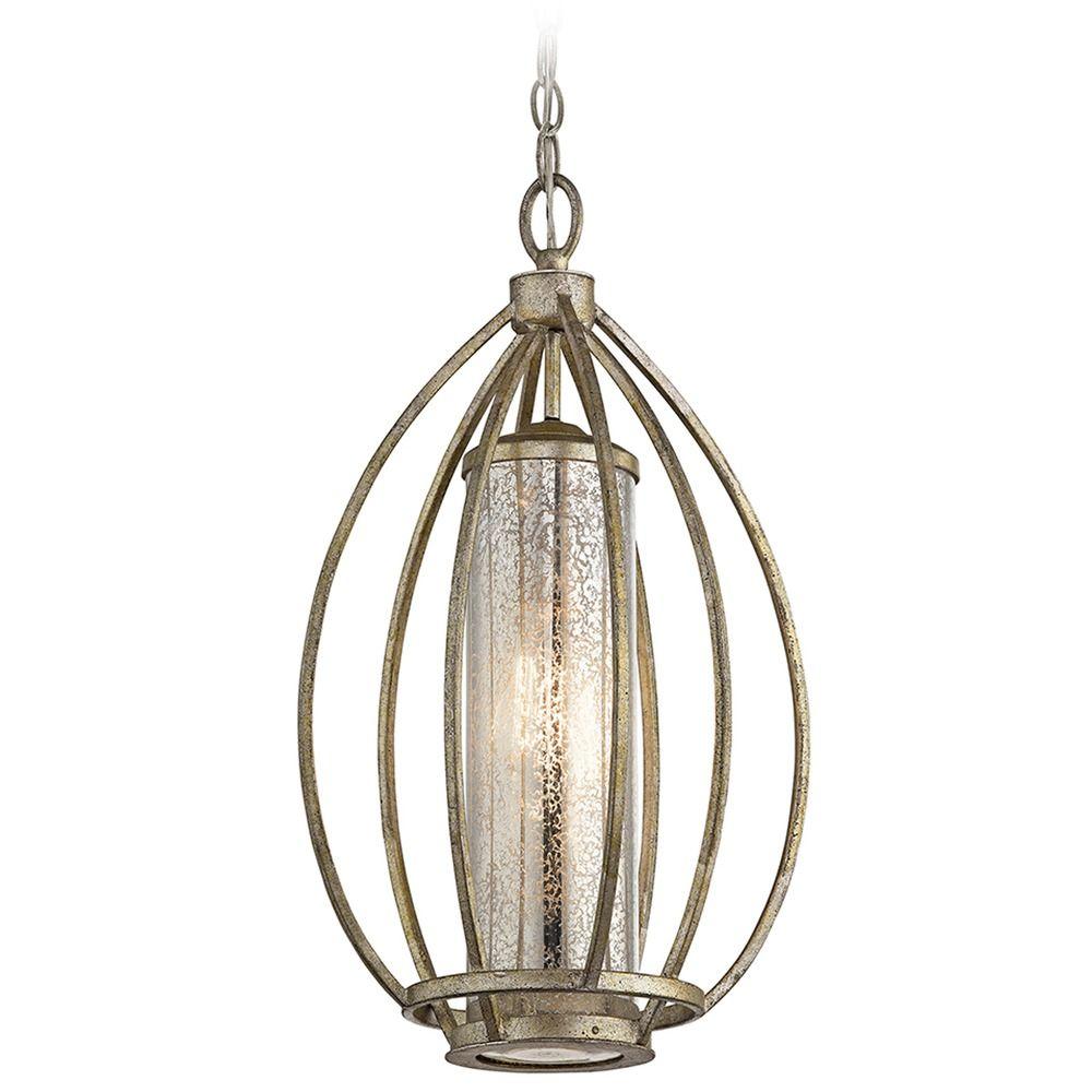 Mercury Glass Pendant Light Gold Kichler Lighting