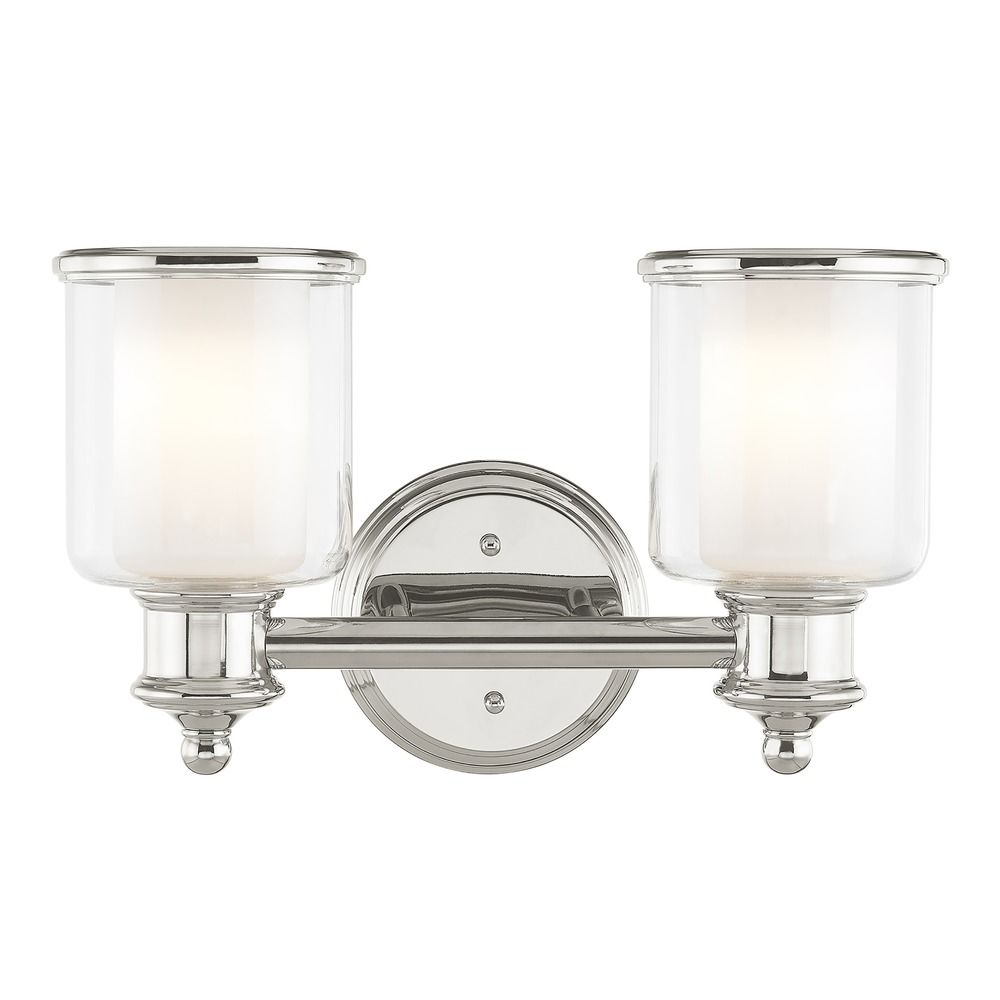 livex lighting middlebush polished nickel bathroom light 20021