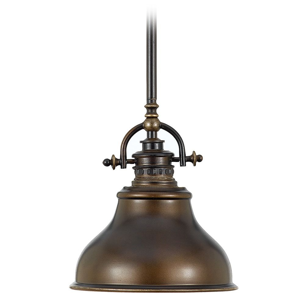 Farmhouse Mini Pendant Light Bronze Emery By Quoizel