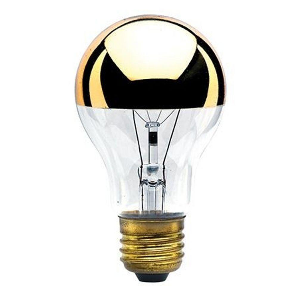 60 Watt A19 Half Gold Incandescent Bulb 712416
