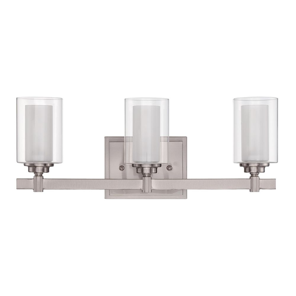 Bathroom Lighting Brands craftmade celeste brushed polished nickel bathroom light
