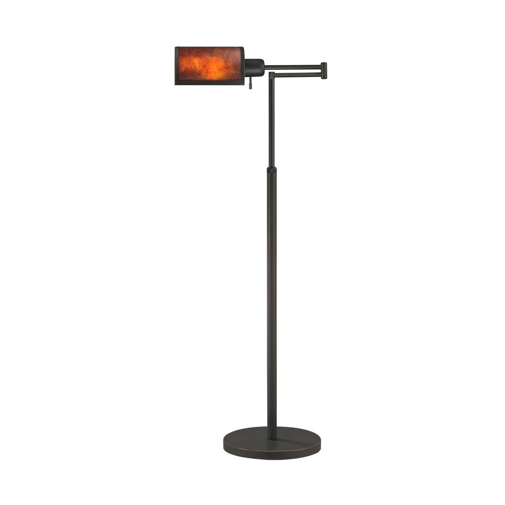 Mica Floor Swing-Arm Pharmacy Lamp