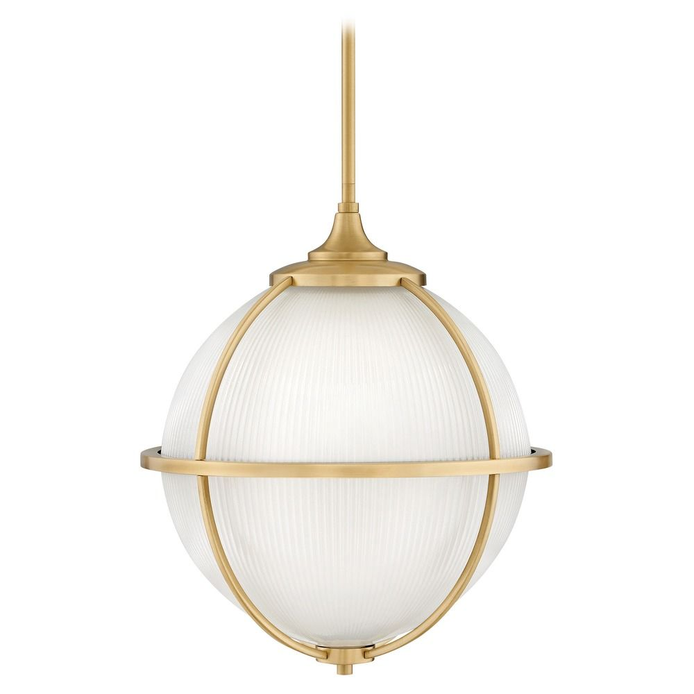 hinkley lighting odeon satin brass pendant light with globe shade 4744sa destination lighting. Black Bedroom Furniture Sets. Home Design Ideas