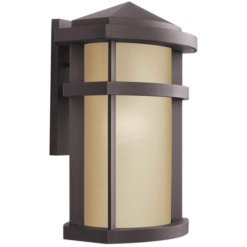 Modern Outdoor Wall Lamps : Kichler Modern Outdoor Wall Light in Bronze Finish 9168AZ Destination Lighting
