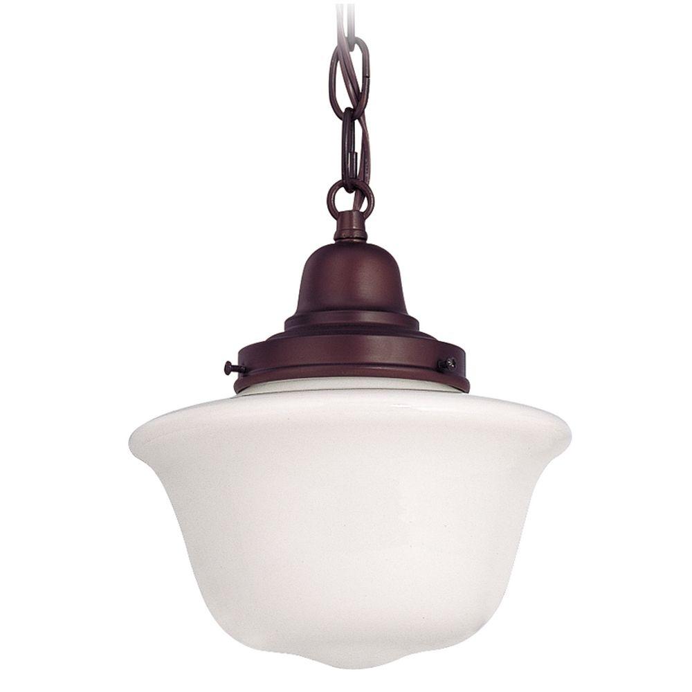 8 inch schoolhouse mini pendant light with chain fb4 220 for Mini pendant lights