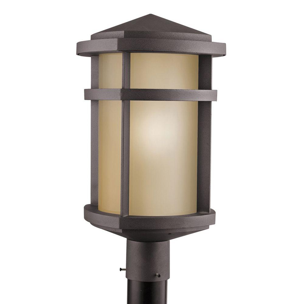 Kichler Post Light In Architectural Bronze Finish