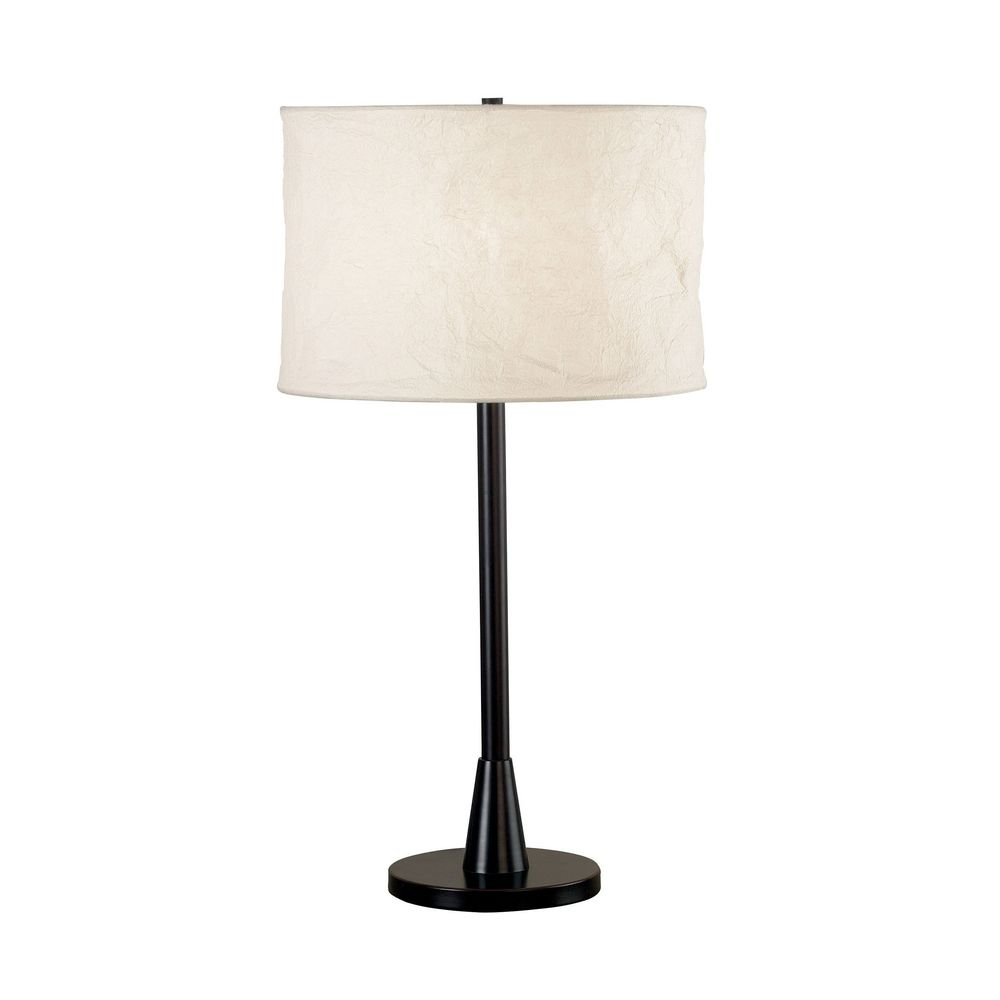 modern table lamp with beige cream shade in oil rubbed. Black Bedroom Furniture Sets. Home Design Ideas
