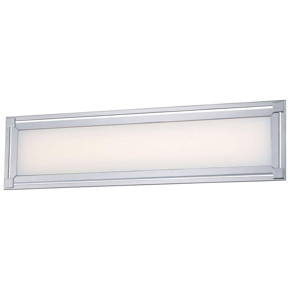 George Kovacs Framed Chrome Led Bathroom Light P1163 077 L Destination Lighting