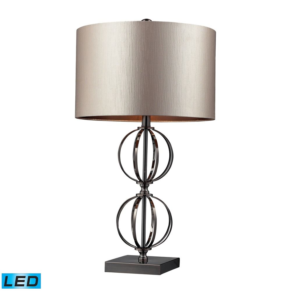 Dimond Lighting Coffee Plating Led Table Lamp With Drum Shade D2224 Led Destination Lighting