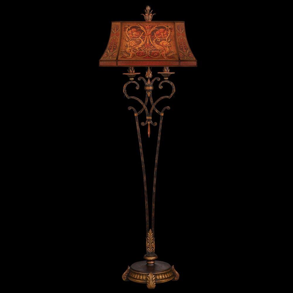 Fine Art Lamps Brighton Pavillion Bronzed Sienna Floor Lamp With Drum Shade 305520st