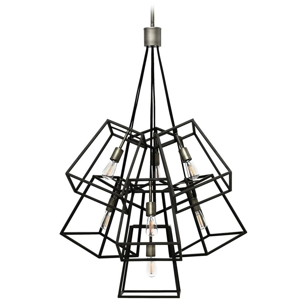 hinkley lighting fulton aged zinc pendant light 3357dz