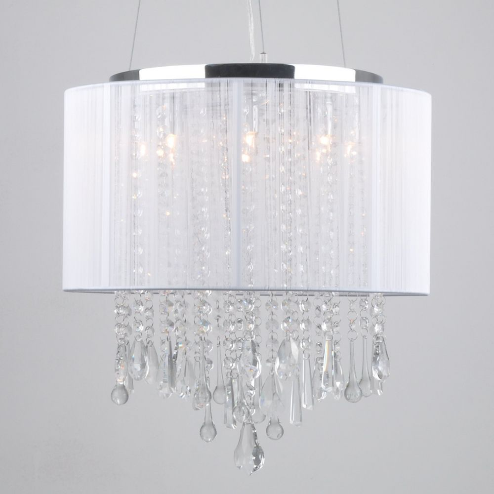 White Drum Light Fixture Latest White Fabric Shade