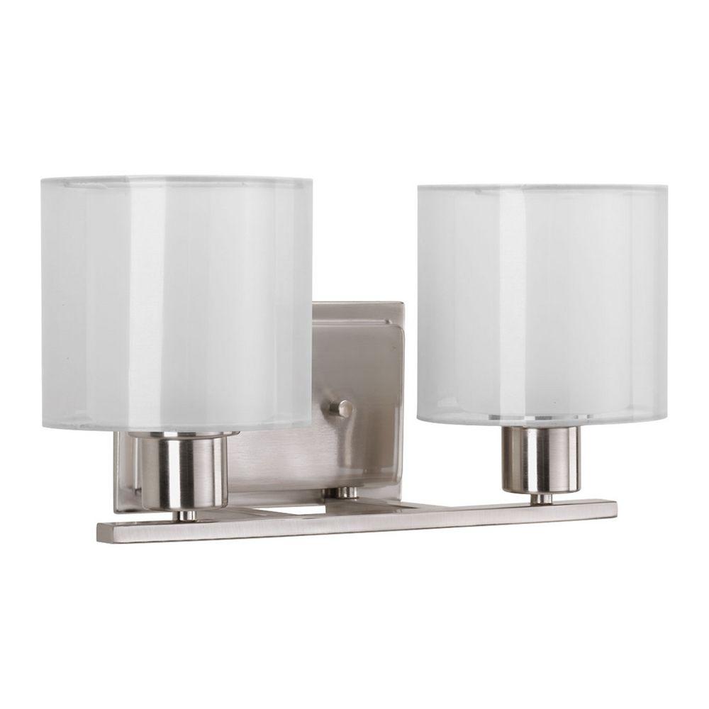 Progress Lighting Invite Brushed Nickel Bathroom Light P2078 09 Destination Lighting