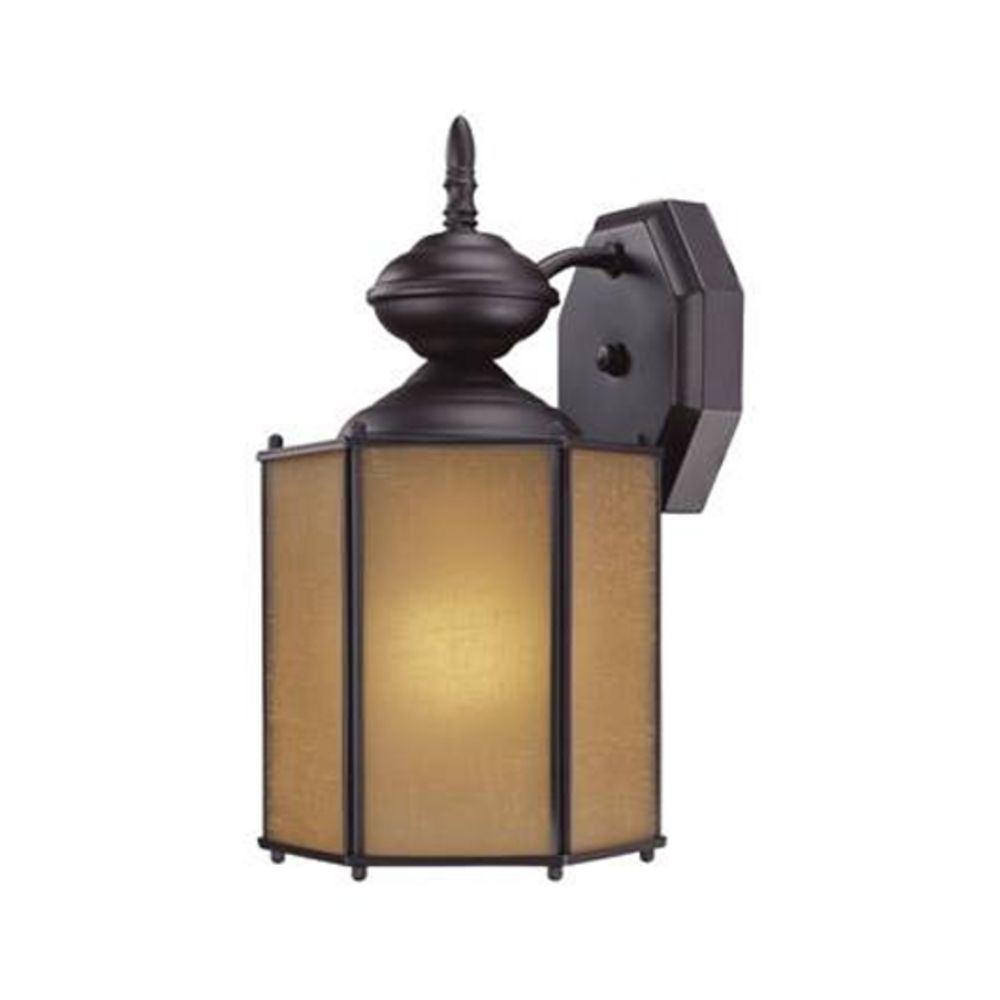 Bronze Outdoor Wall Light With Compact Fluorescent Light Bulb 322es 1 Bz Destination Lighting