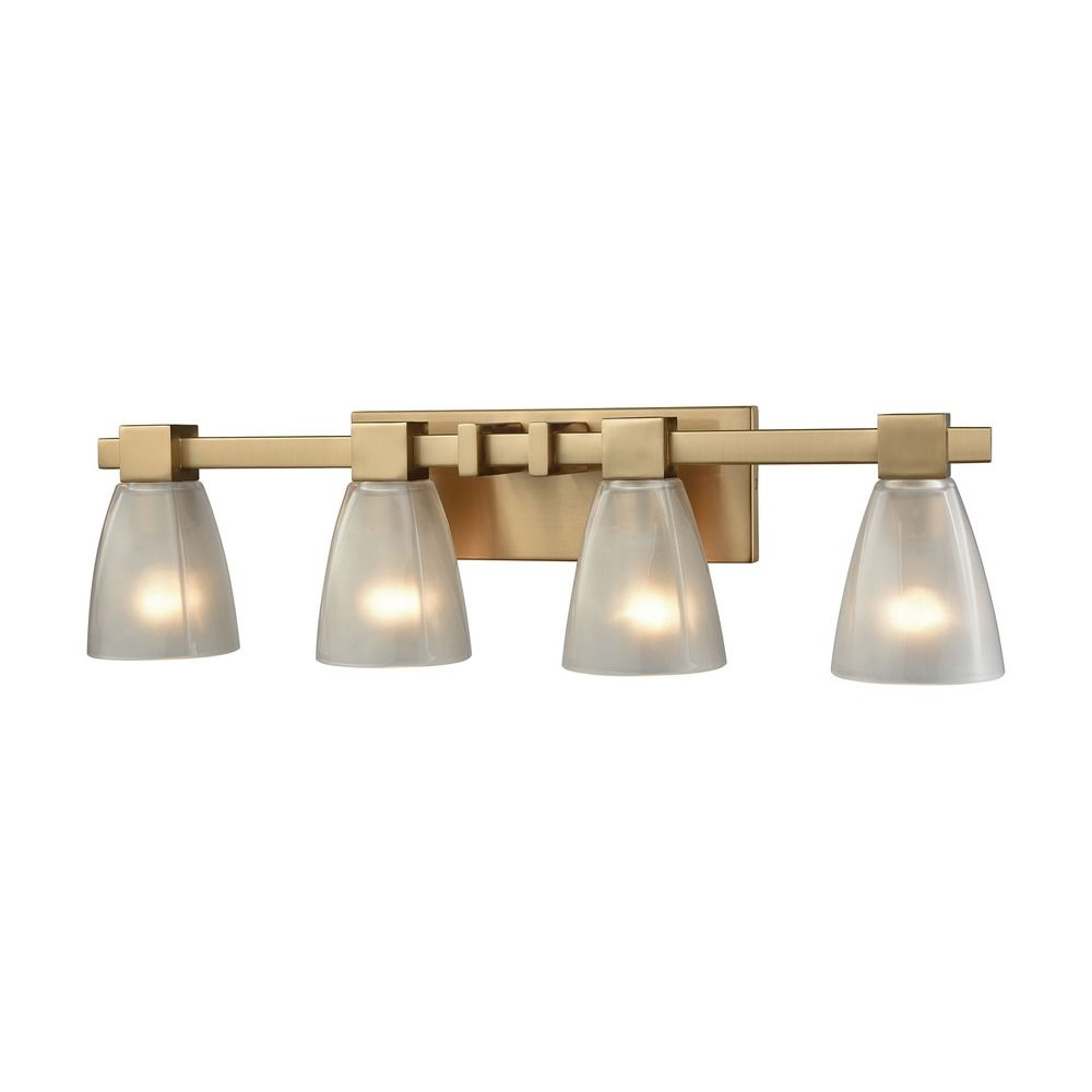 Elk lighting ensley satin brass bathroom light 11993 4 for Elk bathroom lighting
