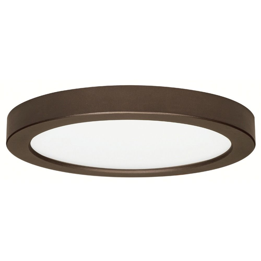 9 Inch Round Bronze Low Profile LED Flushmount Ceiling
