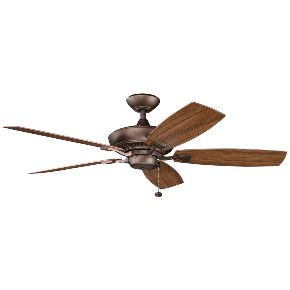 Kichler Ceiling Fan in Weathered Copper Finish