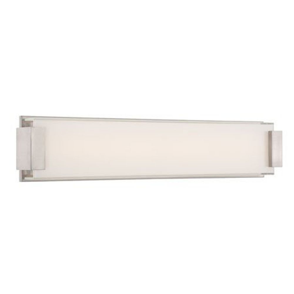 Brushed Nickel LED Bathroom Light Vertical Or Horizontal Mounting - Brushed nickel led bathroom light